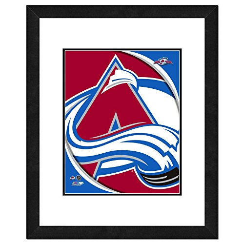 - NHL Colorado Avalanche Team Logo Double Matted & Framed Photo, 18
