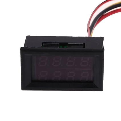 Everpert Voltmeter Ammeter New Dual LED Digital Voltage Current Display Panel Gauge