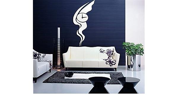 JY$ZB Idea de pegatinas de pared relojes espejo decorativo pared ...