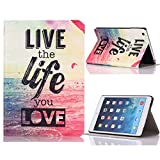 Roodfox Life You Love Flip Stand Leather Case Cover For iPad Mini 1 2 3 Retina