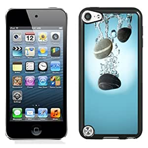 NEW Unique Custom Designed iPod Touch 5 Phone Case With Pebbles Water Drop Spash_Black Phone Case