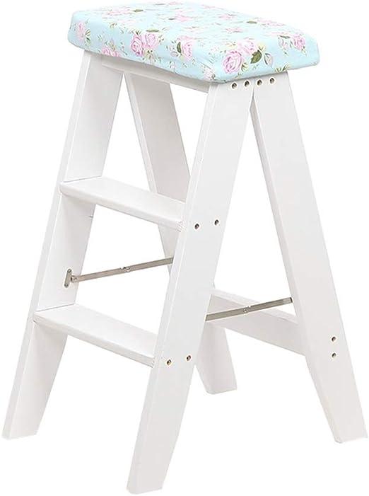 Taburetes escalera Taburete Plegable Taburete De Escalada Taburete Escalera Creativa De Pino Taburete Plegable De Cocina En Casa Taburete De Escalada Portátil Multifunción Escalera Simple De Doble Uso: Amazon.es: Hogar