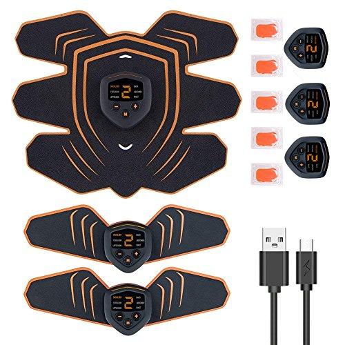 腹筋ベルト EMS 筋力トレーニング 男女兼用 筋肉トナー ダイエット器具 静音 自動的 液晶画面 LEDライト 6種類モード 10段階強度 ボディフィット 腹筋器具 EMS腹筋ベルト お腹 腕部 太ももエクササイズ用 USB充電式