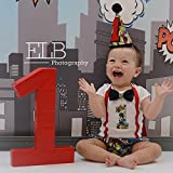 Marvel Superhero Boys First Birthday Outfit Cake Smash Outfit with Cape w/optional Party Hat
