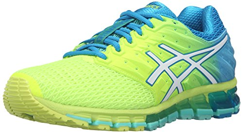 ASICS Women's Gel-Quantum 180 2 running Shoe, Safety Yellow/White/Blue Jewel, 8.5 M US by ASICS (Image #1)