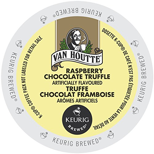 Van Houtte Cafe Raspberry Chocolate Truffle K-cup for Keurig Brewers,  24 Count Chocolate Raspberry Truffles