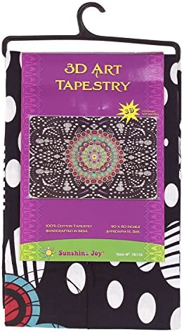 Sunshine Joy 3D Hypno Moons Tapestry Wall Hanging Trippy Table Cloth Magical Dorm Decor – Huge 60×90 Inches