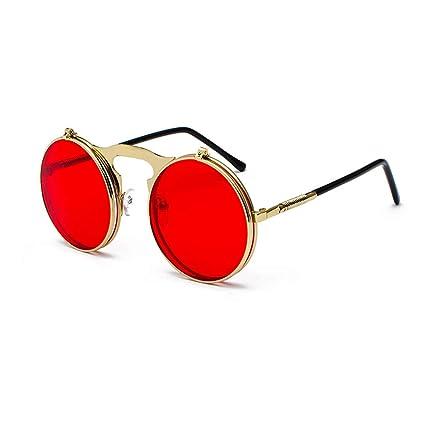 8d93c5c46e Vintage Steampunk Flip Sunglasses Retro Round Metal Frame Sun Glasses For Men  Women Circle Glasses Oculos