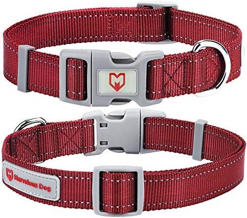 Dog Collar with Buckle Adjustable Safety Nylon...