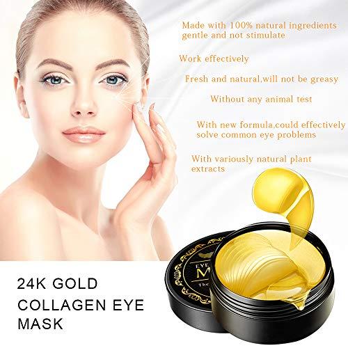 51E1LTd0QuL - Under Eye Patches, 24K Gold Eye Mask, Eye Gel Pads Collagen Eye Treatment Masks Reduces Wrinkles and Puffiness Lighten Dark Circles Moisturizing and Anti Aging 60PCS