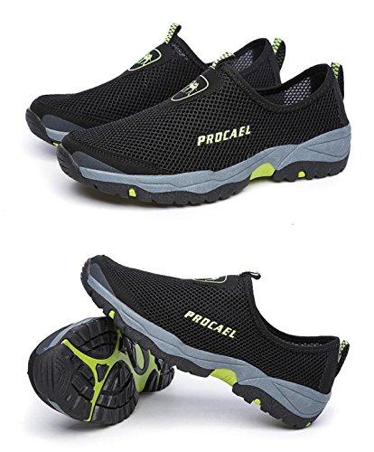 Deportivo Malla LXXAMens Trekking Black Verano Transpirable El Calzado De Zapatos Caminar z7gqAxwz