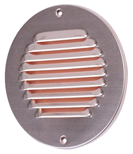 XLS-Air 1-R150K Round Copper Fixed Louvered Ventilator - Silver ()
