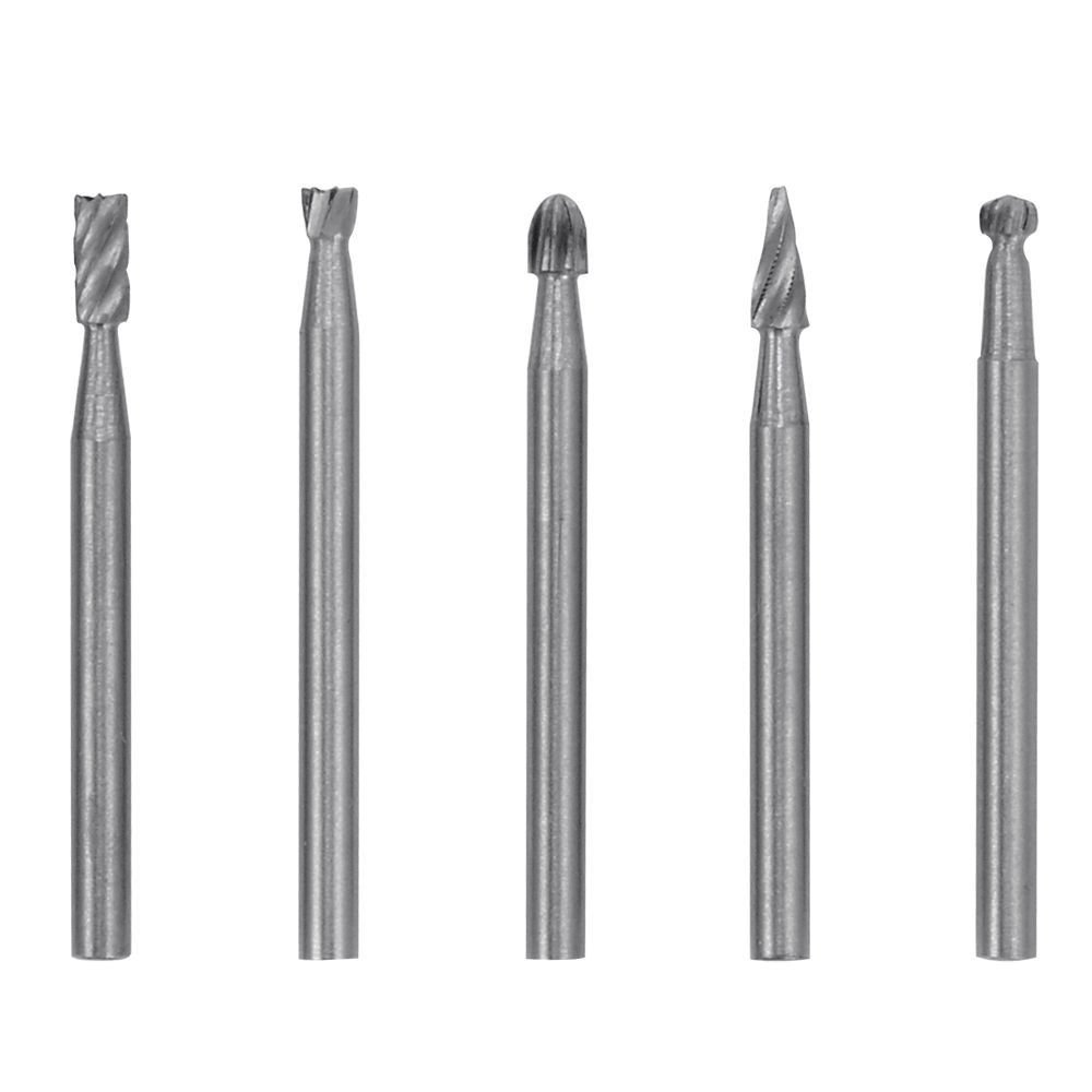 Shank Twist Drill Bit for Dremel Rotary Tools for Woodworking Drilling Carving Engraving Contineo 10pcs Single Cut Tungsten Steel Solid Carbide Rotary Burrs Set with 1//8 3mm