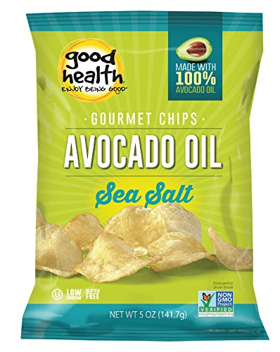 Good Health Avocado Chips Sea Salt, 5-Ounce Bags (Pack of 12) ()