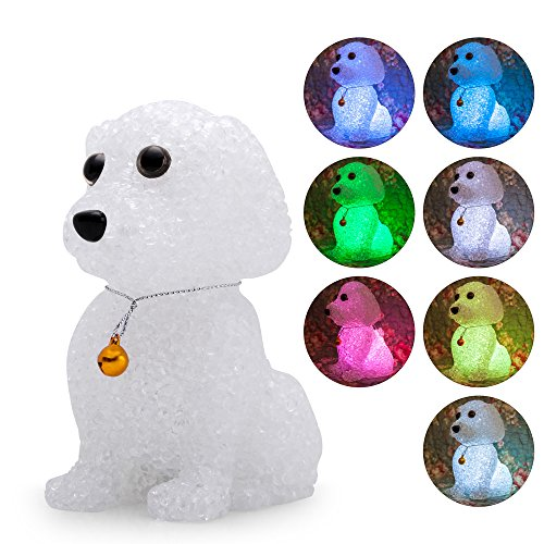 Animal LED Baby Night Light Lamp Colorful Cartoon Bell Dog Luminous Nightlight Birthday Toy Gifts for Kids Child Bedroom (Glowing Animal Flashlight)