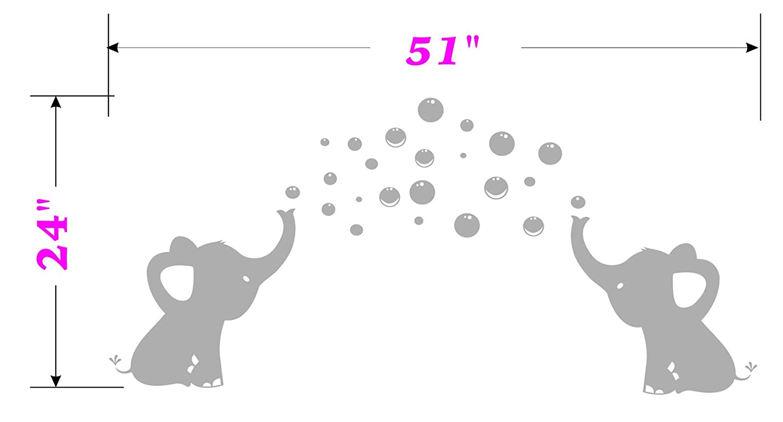 Wandtattoo Elefant Kinderzimmer   Bdecoll Wandsticker Elefant Fur Kinderzimmer Babyzimmer Mit