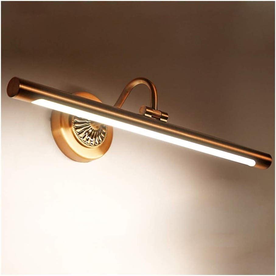 Accesorios de iluminación de pared Lámparas de par LED de metal moderna 12W luz del espejo del espejo de la lámpara lámpara de pared Baño compone el espejo de iluminación de luz impermeable anti-niebl