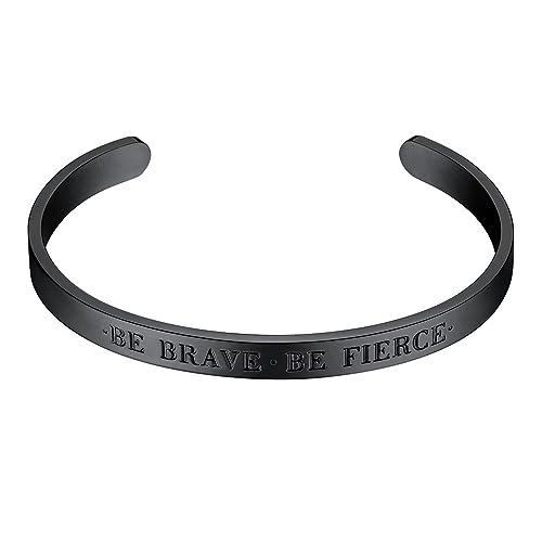 8d5e6507342 PROSTEEL Black Bracelet,Cuff Bracelet,, Men Bracelet,Bible Verse Bracelet ,Scripture