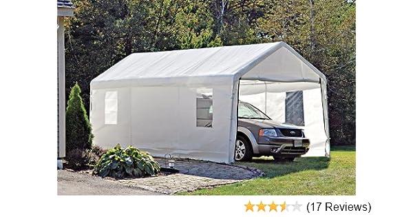 canopy shelter tent car metal portable garage x legs truck carport cover