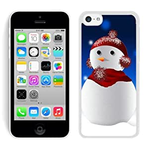 Design for Mass Customization Iphone 5C TPU Case Christmas Snowman White iPhone 5C Case 8