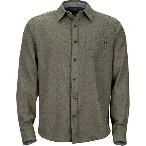 Marmot Men's Hobson Midweight Flannel Long Sleeve Forest Night Heather Large