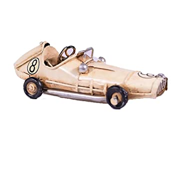 Amazon.com: Metal retro Ecru Classic Race coche miniatura ...