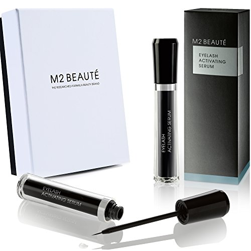 M2 BEAUTE Eyelash Activating Serum 5 Milliliter and M2 BEAUTE Box, Dermatologist Tested Product, Highest German Quality Professional Eyelash Serum for Growing Natural Lashes (Active Ingredient In Rodan And Fields Lash Boost)