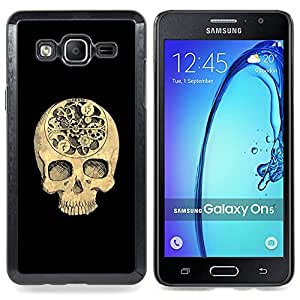- Skull Time Black Meaning Deep Death - - Snap-On Rugged Hard Cover Case Funny HouseFOR Samsung Galaxy On5 SM-G550FY G550