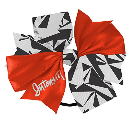 Header Bow - Intensity Women's Double Header Hair Bow, Coral Fusion/Black/White/Shatter, One Size