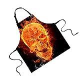 Jili Online Funny Animal Printed Aprons for Men Party Animal Baking Kitchen Chefs Gift - Skull#1
