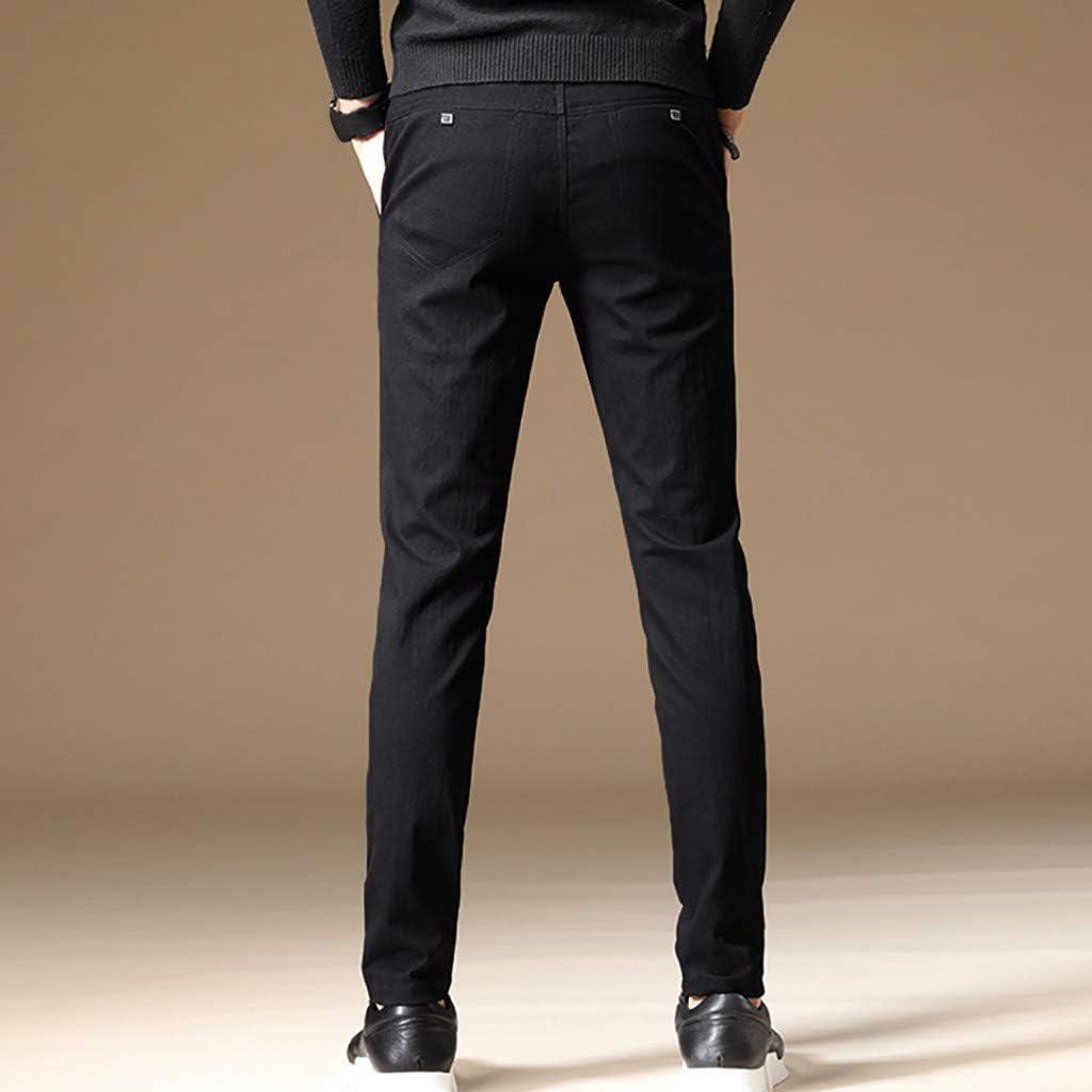 Stretch Dress Pants for Mens Waist Classic-Fit Flat-Front Comfort Skinny Suit Pants
