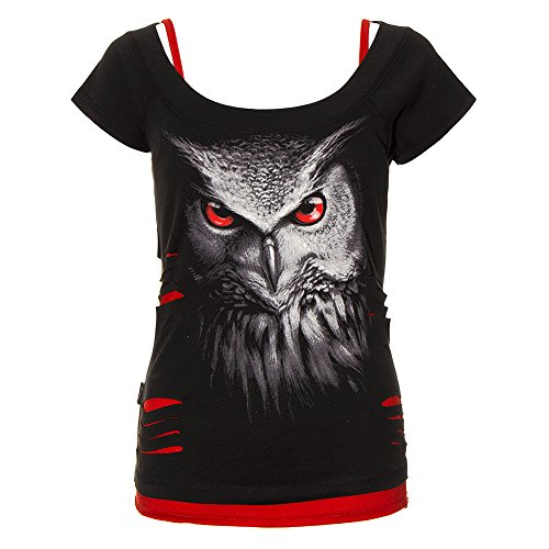 "Camiseta de chica ""Night Hunter"" de Spiral Direct (Negro) Negro"