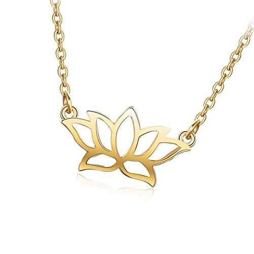 535cf0d7d567be Amazon.com: Mmiiss Lotus Flower Pendant Necklace 925 Sterling Silver for  Women, Floral Necklace Gold: Jewelry