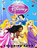 img - for Disney Princess Coloring Book: Snow White, Aurora, Moana, Tinker Bell, Rapunzel. 130 Illustrations (Volume 1) book / textbook / text book