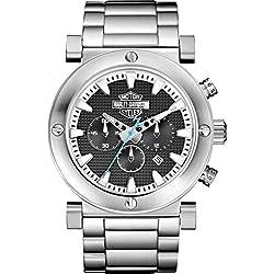 Harley-Davidson Men's Bulova Grey Bar & Shield Chronograph Wrist Watch 76B166
