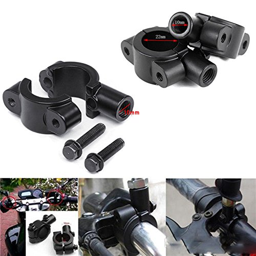 Atv Handlebar Clamp - Pair of Black 7/8