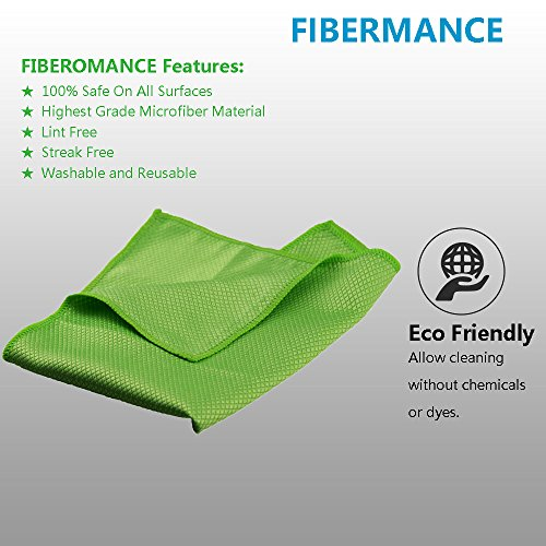 "BetterMilk Reusable Green 12/""x12/"" Microfiber Dairy Towels Buy One Get One Free"