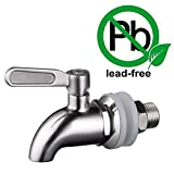 "Weirun Replacement Spigot Faucet for Beverage Dispenser SUS304 Stainless Steel 5/8"" or 16mm, Polished Finish"