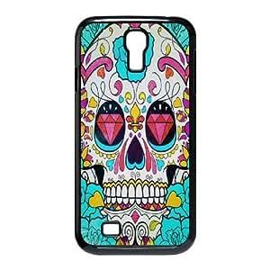 QNMLGB Hard Plastic of Artsy Skull Cover Phone Case For Samsung Galaxy S4 i9500 [Pattern-1]