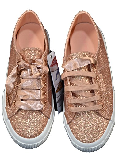 Turnschuhe Fuß Grau Schnürsenkel Rosa Silber Superga Gold Schuhe Silber DPB0 Frau 8YTAqT4w