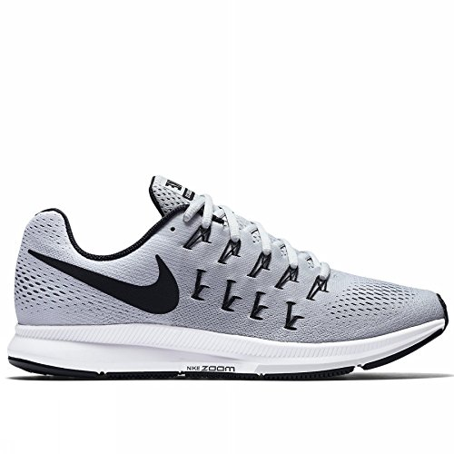 Nike Air Zoom Pegasus 33 TB Mens Running Trainers 843802 Sneakers Shoes (US 12, Pure Platinum Black White 002)