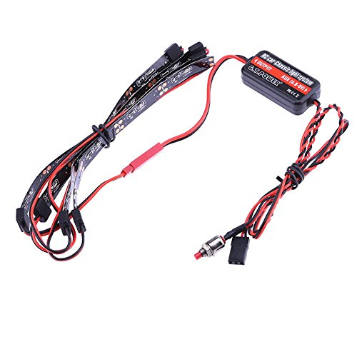 Iainstars 4.8-6V 50mA Power RC Car 7 Modes Chassis Light System LED Lighting(Blue) (Lighting Chassis)