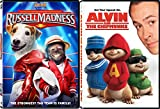 Alvin & The Chipmunks + Russell Madness DVD Family Animal Fun Movies DVD Kids animated