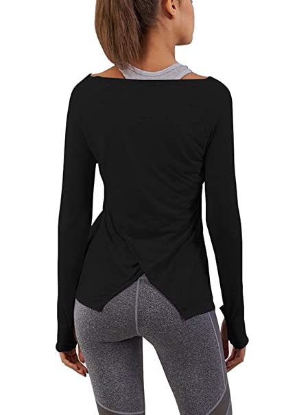 Amazon.com: Mippo - Camiseta de manga larga para mujer, para ...