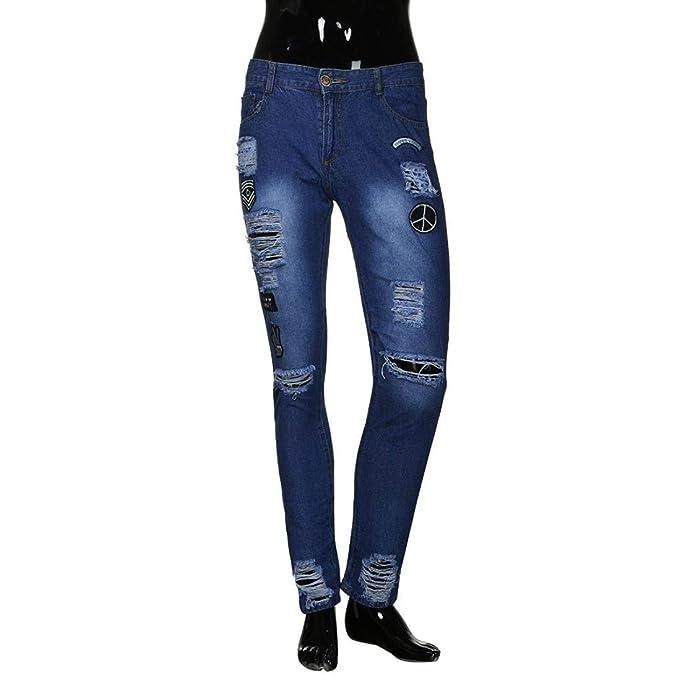 Pantalones De Mezclilla Slim con Cremallera Flacos Slim Fit ...