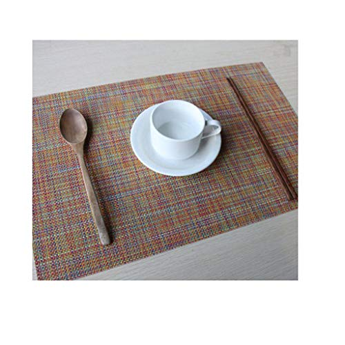 Agordo Woven Heat-Insulated Placemat Coaster Kitchen Dining Table Mat Pad Colored