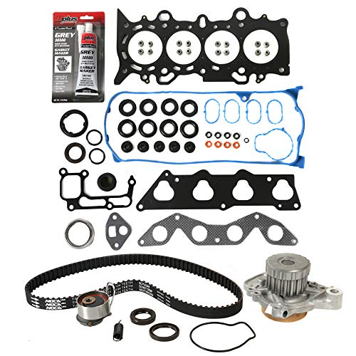 (MOCA Timing Belt Water Pump Kit and Head Gasket Set for 2001-2005 Honda Civic LX DX D17A1 1.7L L4)