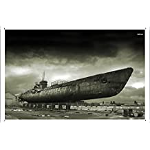Abstract Sign - #4077 Military Submarine Metal Tin Poster