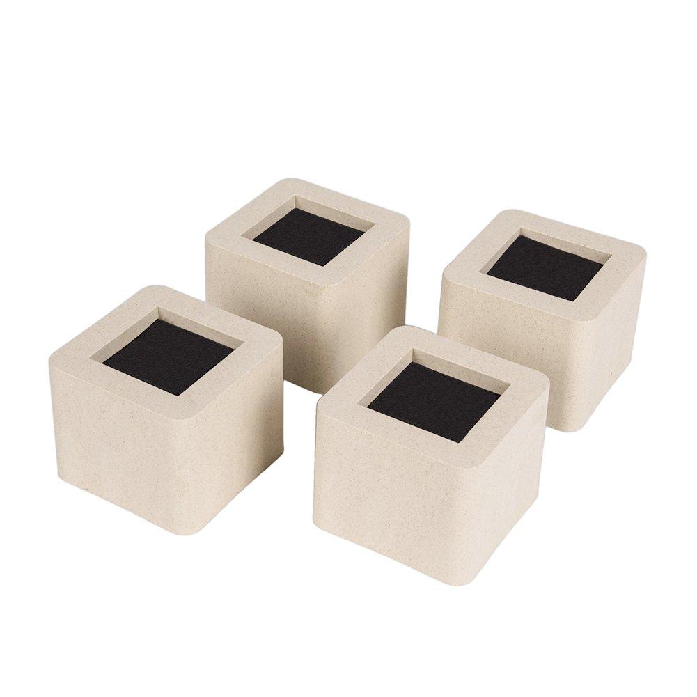 ZHENXI Adjustable Furniture Risers - 2.95 Inch Bed Riser, Table Riser or Sofa Riser 4 Packs