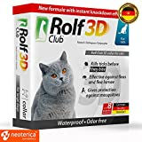 Rolf Club 3D FLEA Collar for Cats - Flea and Tick Prevention for Cats - Cats Flea and Tick Control for 8 Months - SAFE Tick Repellent - WATERPROOF Tick Treatment (for Cats)